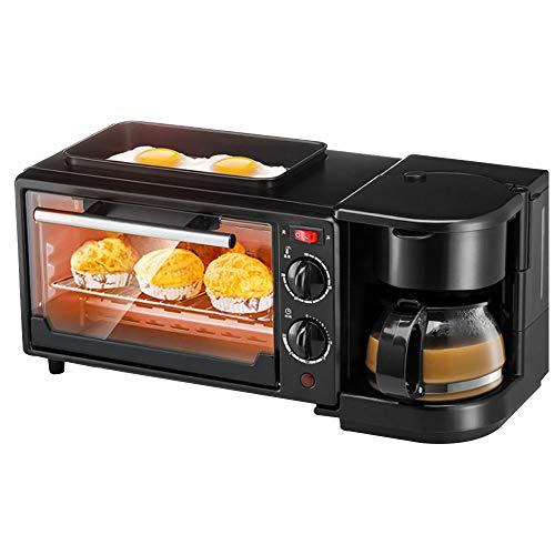 CLCYL Frühstücksmaschine Kaffeemaschine Brotmaschine Eiermaschine Startseite Automatischer Multifunktions-Toaster Ofen Toaster Fahrer Toaster Kaffeemaschine DREI-In-One