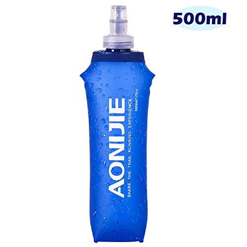 Azarxis TPU Faltbarer Soft Flask, BPA-Frei Trinkblase Trinkflaschen Wasserflasche für Trinkrucksack Fahrrad Klettern Sport (500ml)