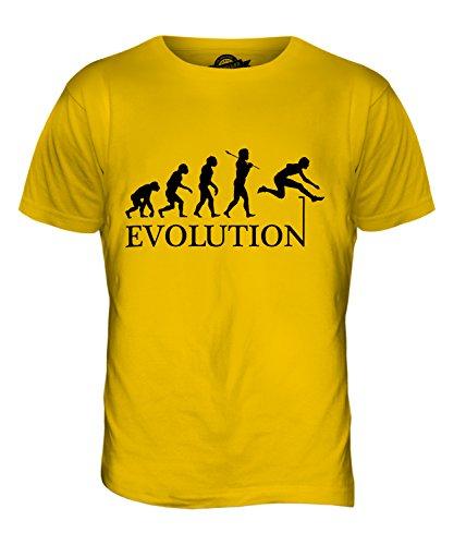 CandyMix Hürdenlauf Evolution Des Menschen Herren T Shirt Dunkelgelb