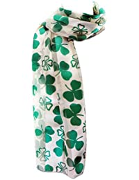 New Company Womens St. Patrick Shamrocks Clovers Scarf Ð White - One Size