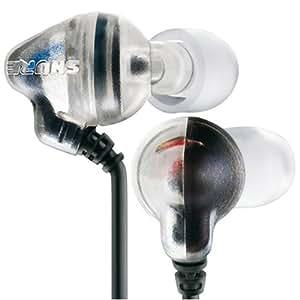 Shure JSH E2C Ecouteurs à isolation acoustique 1 voie Translucide