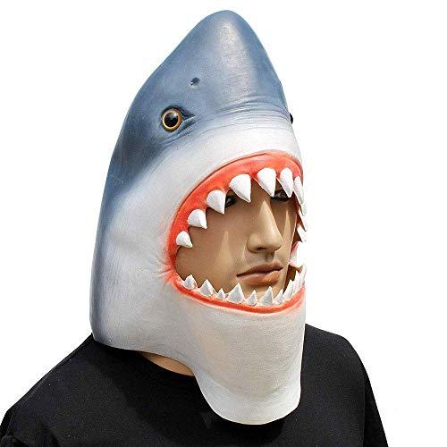 Kostüm Weiße Hai Große - Wsjdmm Streich Requisiten Kopfbedeckungen Perücken Lustige Maske Neuheit Halloween Maske Hai Maske Weißer Hai Kostüm, Requisiten Maskerade Requisiten Halloween Weihnachtsgeschenk
