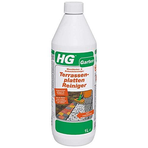 HG Terrassenplatten Reiniger 1L - ein konzentrierter Terrassenreiniger zur effektiven Reinigung von Gartenplatten - Hg Platten