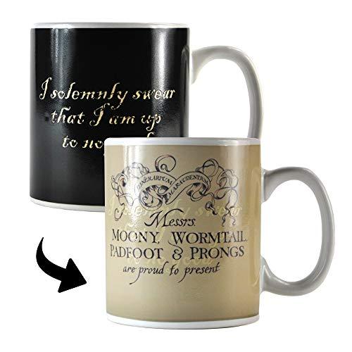 Harry Potter Wärme ändern Becher - Marauder's Map (Satz Von Tassen Kaffee)