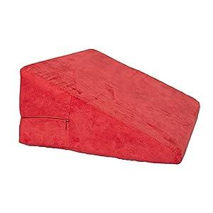 Genmine® Keilkissen für Sodbrennen, Reflux, aus Schaumstoff, Größe: 47 x 16 x 33,5 cm, Rot