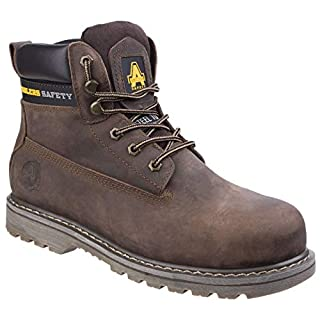 Amblers Unisex Steel FS164 Welted Safety Boot / Womens Mens Boots (4 UK) (Brown)