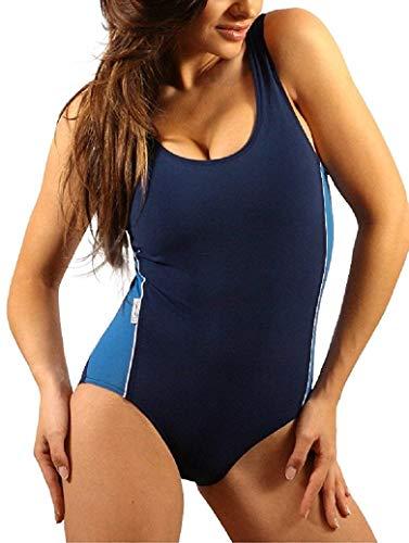 Stanteks Damen Badeanzug Klassischer Schwimmanzug mit Schwimmerrücken SK0020 (50)