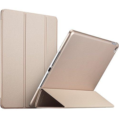 ESR Ultra Dünne Hülle Kompatibel mit iPad Air 2 2014 Modell 9,7 Zoll - Smart Case Cover mit Gummierter Rückseite Schutzhülle - Magnet mit Auto Sleep/Wake Funktion - Champagner Gold -