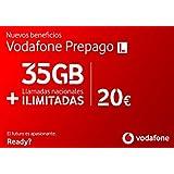 Vodafone Prepago 35GB + llamadas ilimitadas nacionales Roaming Europa y EEUU