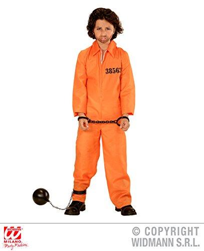 NGENER - Größe 158 cm, County Jail Sträfling Gefangener Häftling Knastbruder orange (Halloween Orange County)
