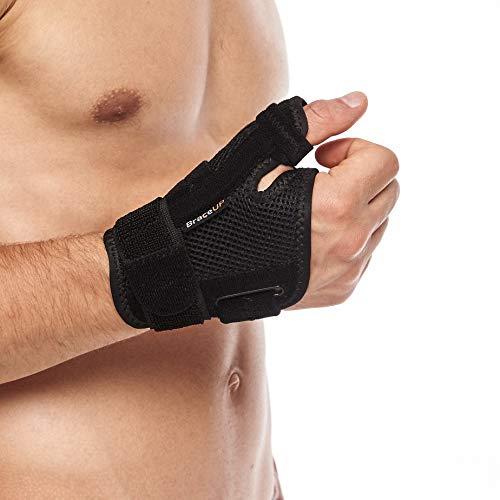 Braceup, tutore per pollice stecche per artrite, tunnel carpale e slogature