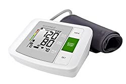 Ecomed BU-90E Oberarm-Blutdruckmessgerät ohne Kabel, Arrhythmie-Anzeige, WHO-Ampel-Farbskala, für präzise Blutdruckmessung und Pulsmessung mit Speicherfunktion