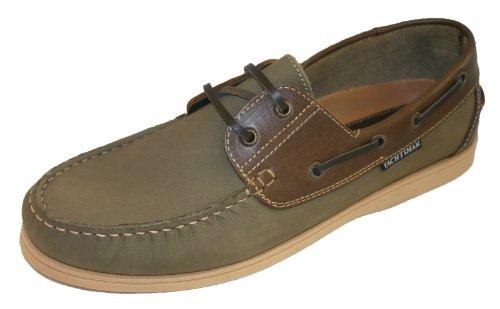 Seafarer Chaussures bateau en cuir Pointure 40,5-47 Vert - Khaki