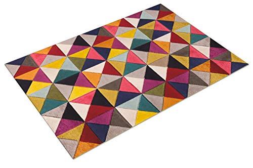 Flair Rugs Tappeto Spectrum Samba - Design Astratto Moderno & Dinamico - Colorato - 120x170cm