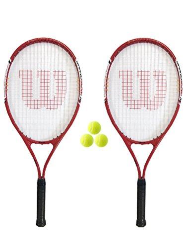 Preisvergleich Produktbild 2x Wilson Energy XL Tennisracket + 3tennisballen