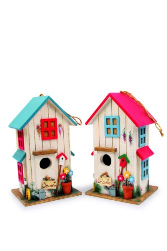 Small Foot by Legler Vogelhäuser mit süßen Verzierungen, gemütliches Zuhause für alle Singvögel im Winter, mit kleiner Klappe und Riegel