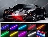 homeking Lichtband / Lichtleiste für KFZ, Knight Rider, Flash, 48-LED, RGB, wasserfest, 56cm, 7Farben