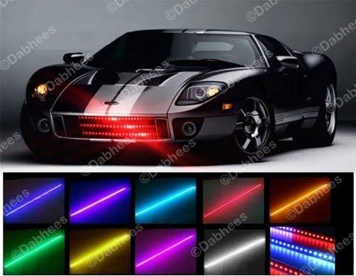 homeking Lichtband / Lichtleiste für KFZ, Knight Rider, Flash, 48-LED, RGB, wasserfest, 56cm, 7Farben -