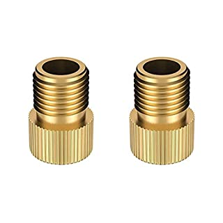 2Pcs Brass Presta to Schrader Bike Valve Adaptor Adapter Converter