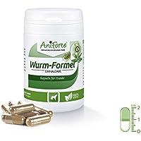AniForte Wurm-Formel 50 Kapseln für Hunde, Praktische und 100 Prozent natürliche Einmalgabe Bei und Nach chemischer Wurmkur