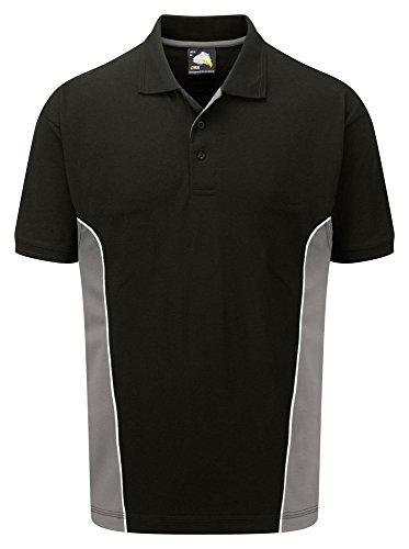 Workwear World Herren Poloshirt Flaschengrün / Schwarz