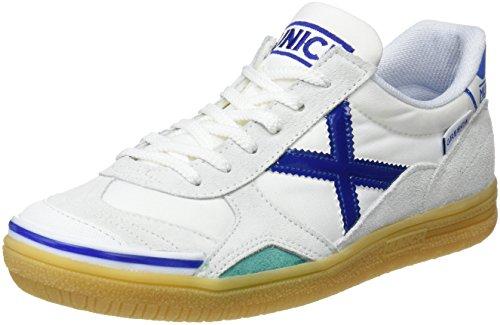 Munich Gresca Kid S, Scarpe da Fitness Unisex-Bambini, Bianco (Blanco/Azul 01), 37 EU