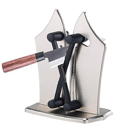 Küche Messerschärfer Bayerische Rand mit Edelstahl massiv und österreichischen Wolframcarbid in Silber AS SEEN ON TV für Kitchen Tools