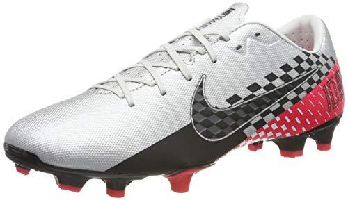 Nike Unisex-Erwachsene Vapor 13 Academy NJR Fg/mg Fußballschuhe, Mehrfarbig (Chrome/Black/Red Orbit/Platinum Tint/White 006), 43 EU