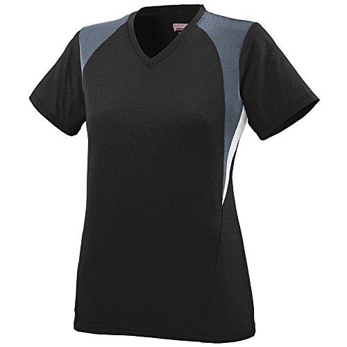 Augusta - T-shirt de sport - Femme Multicolore - Black/Graphite/White