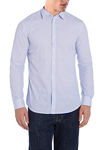 Diesel maglia manica lunga s-ghei camicia (blu ciaro, l)