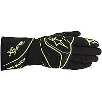 Alpinestars Kart Handschuhe, Schwarz/Gelb Fluo, S