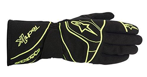 alpinestars-kart-handschuhe-schwarz-gelb-fluo-m