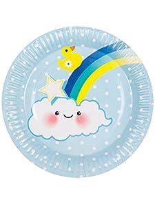Boland - Platos de cartón para bebé, 23 cm, talla única, 6 unidades, multicolor, BOL53219