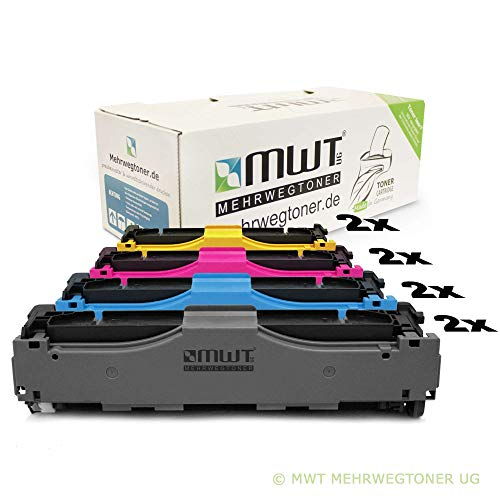 8X Kraft Office Supplies Remanufactured Toner für HP Color Laserjet Pro MFP M 476 dw nw DN ersetzt CF380X-83A 312A 312X