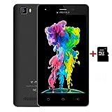 Moviles Libres 4G,10Pcs V Mobile A10 16GB Memoria 5 Pulgadas Android 7,0 5MP Cámara 2800mAh Batería WiFi GPS Quad Core Smartphone Libres