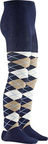 Karo Strumpfhosen (Playshoes Mädchen Karo Strumpfhose, Blau (marine 11), 98 (Herstellergröße: 98/104))