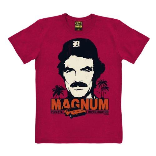 T-shirt Magnum - maglia Magnum, P.I. - Il investigatore - Cult del film - maglietta girocollo - rosso - t-shirt originale della marca TRAKTOR®, taglia XXL