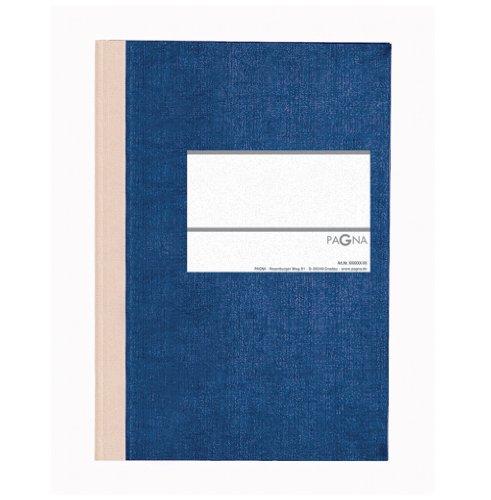 Preisvergleich Produktbild Pagna 15112-02 Geschäftsbuch PNA CLASSICA A5 Papiereinband mit Leinenstruktur, Geweberücken 96 Blatt, liniert, Farbe: blau