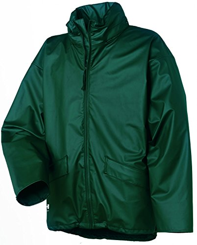 HELLY HANSEN WORKWEAR 70180 490 - CHAQUETA IMPERMEABLE PARA HOMBRE  COLOR VERDE  TALLA L