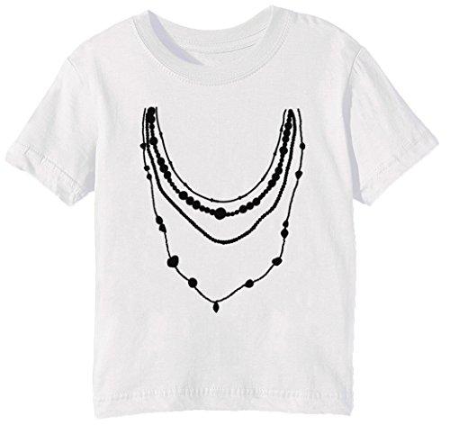 Schmuck Kinder Unisex Jungen Mädchen T-Shirt Rundhals Weiß Kurzarm Größe M Kids Boys Girls White Medium Size M (Kind Juwel Tiara)