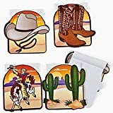 Pack of 12 - Western Cowboy Notepads - Great Wild West Party Loot Bag Fillers