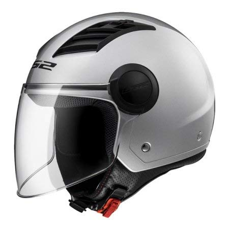 LS2 Casco Moto Of562 Airflow, Gloss Silver Long, S