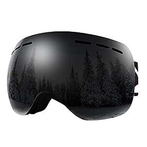 BFULL Occhiali da Sci OTG, Occhiali da Snowboard Antivento antiappannamento per Uomo, Donna e Gioventù con Protezione UV400 e Lente antiriflesso