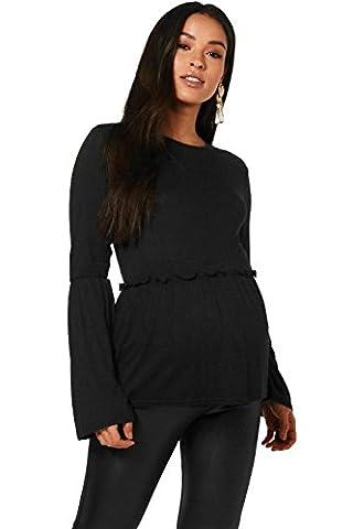 Noir Femmes Maternity Abi Bell Sleeve Smock Top - 16