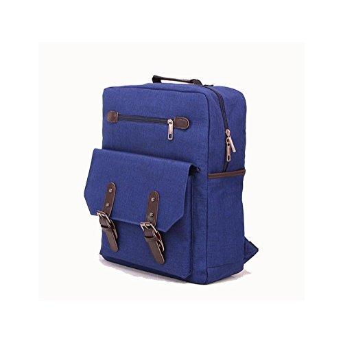 Backpack 20L-35L Tela Zaino per Scuola Viaggio Lavoro , khaki dark blue