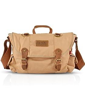FANDARE Retro Messenger Bag Umhängetasche Schultertasche 14 Zoll Laptoprucksäcke Tasche Kuriertasche Multifunktions...