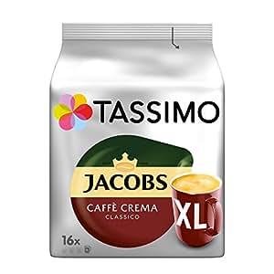 Tassimo Jacobs Caffè Crema Classico XL, 5er Pack Kaffee T Discs (5 x 16 Getränke)