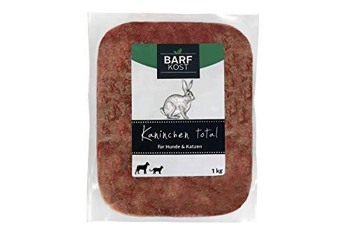 BARF Kost Hundefutter, 100% Kaninchen, Barf Futter, Frischfleisch Hund, Fertigbarf, (12 kg - 30 kg)