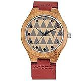 Hermosa Watches Skone/Moda Patron Reloj de Madera de los Hombres Reloj de Cuarzo dial Grande Madera de Bambu