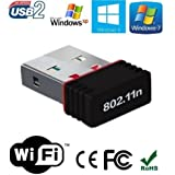 Higadget™ Wi-Fi Receiver 300Mbps, 2.4GHz, 802.11b/g/n USB 2.0 Wireless Mini Wi-Fi Network Adapter - 3 Months Warranty
